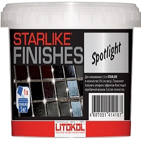 Добавка 150г Litokol Starlike Finishes Spotlight Серебристая для Получения Новых Оптических Эффектов