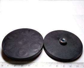 Прорезиненный крепежный магнит SDMRA-66A М5 усилие 20кг