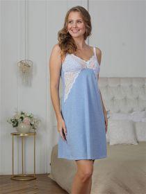 Сорочка для кормления Olivia голубой меланж