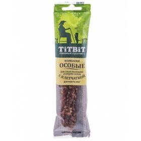 Титбит Колбаски Особые с клетчаткой для собак мелких и средних пород, 30г