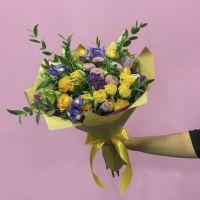 Жёлто-фиолетовый букет