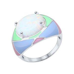 Кольцо из серебра с опалом 83010039 SOKOLOV