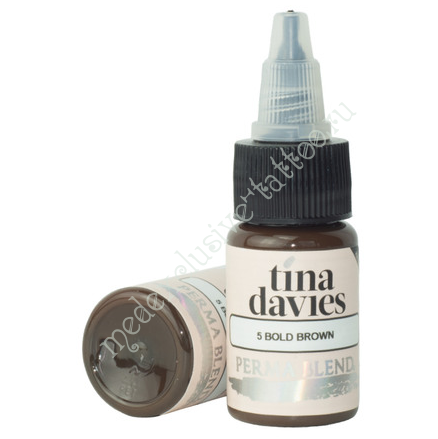 Perma Blend для татуажа бровей Tina Davies 'I Love INK' 5 Bold Brown 15 ml