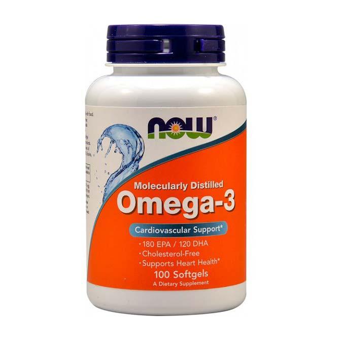 Omega-3 1000 mg от NOW 100 капсул