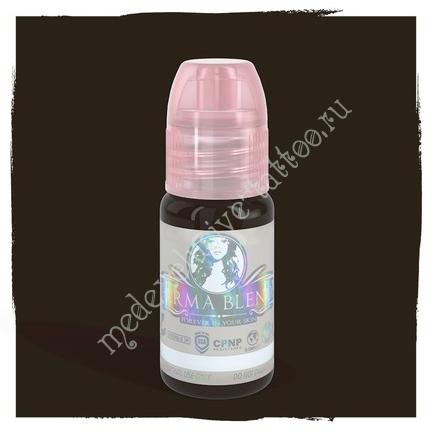 Perma Blend для татуажа глаз и бровей Blackish Brown 15 ml