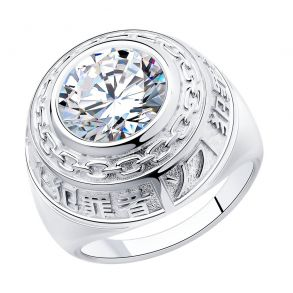 Кольцо из серебра с фианитом 94013150 SOKOLOV