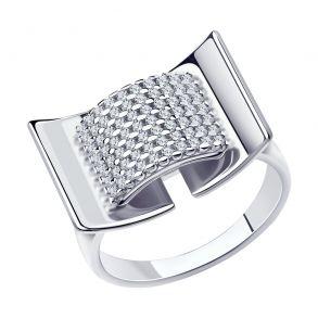 Кольцо из серебра с фианитами 94013164 SOKOLOV