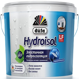 Гидроизоляция Dufa Hydroisol 1.5кг Голубая, Готовая к Применения, Эластичная