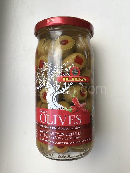 Оливки с перцем Ilida ,350 грамм (стекло)