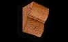 Консоль из Полиуретана Уникс Классика К2 Орех Д120хШ110хВ135 мм Умеренная Обработка Топором