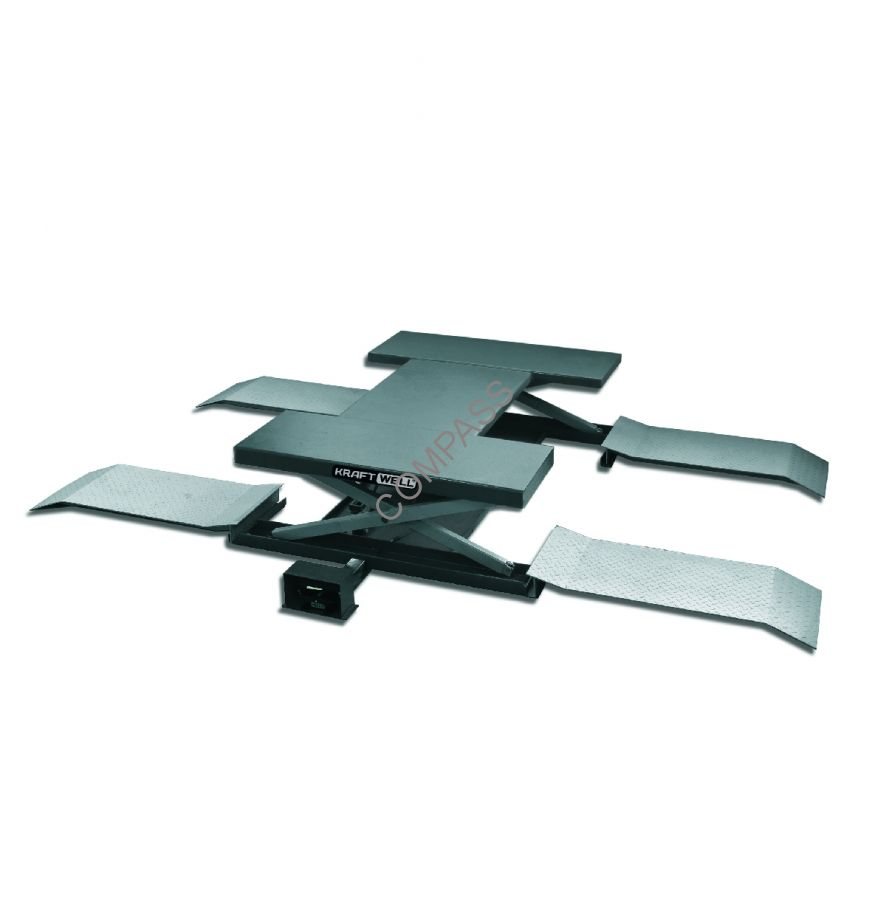 Подъемник ножничный г/п 2500 кг. пневматический напольный KraftWell (КНР) арт. KRW260A