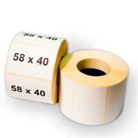 Термоэтикетка 58х40 мм ЭКО втулка 40 мм ( 1 рулон = 700 этикеток)