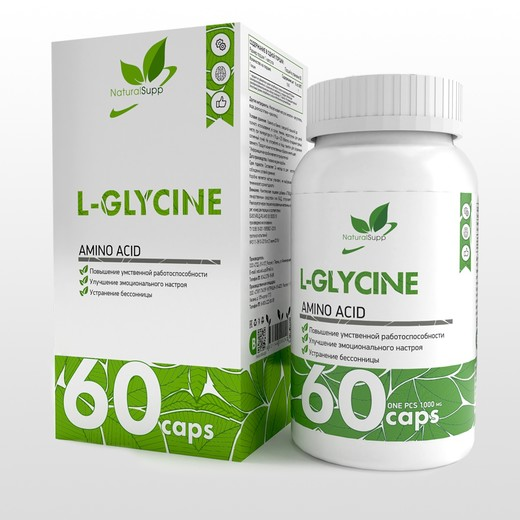 L-Glycine от NaturalSupp 60 кап