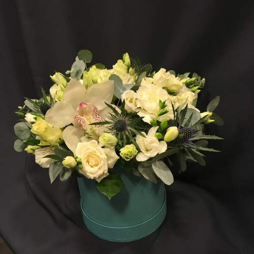 Мятная коробочка с орхидеей