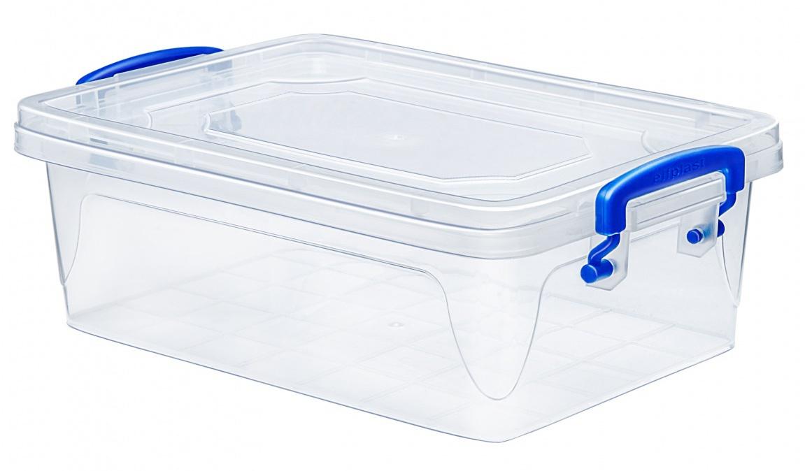 Контейнер для хранения Эльфпласт Fresh Box slim 10 литров прозрачный с крышкой  41х28х13 см