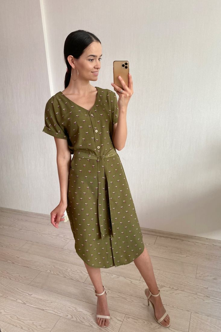 s1801 Платье с букетиками