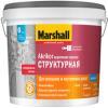 Декоративная Краска Структурная Marshall Akrikor 9л для Внутренних и Наружных Работ / Маршалл Акрикор