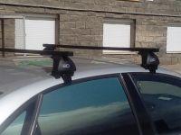 Багажник на крышу Lada Vesta sedan, Евродеталь, стальные прямоугольные дуги