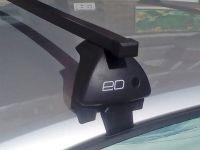 Багажник на крышу Lada XRay, Евродеталь, стальные прямоугольные дуги