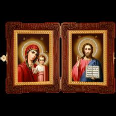 Венчальный складень - Спаситель Казанская икона Божией Матери