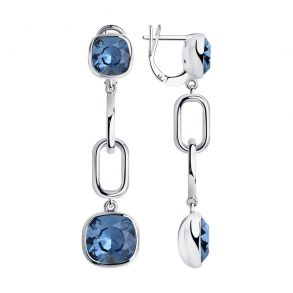 Серьги из серебра с кристаллами Swarovski 94024169 SOKOLOV