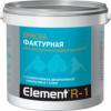 Краска Фактурная Alpa Element R-1 9л Белая, Матовая для Внутренних и Наружных Работ