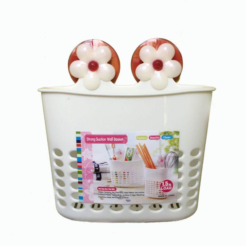 Органайзер для ванных принадлежностей на присосках 16х7х15см