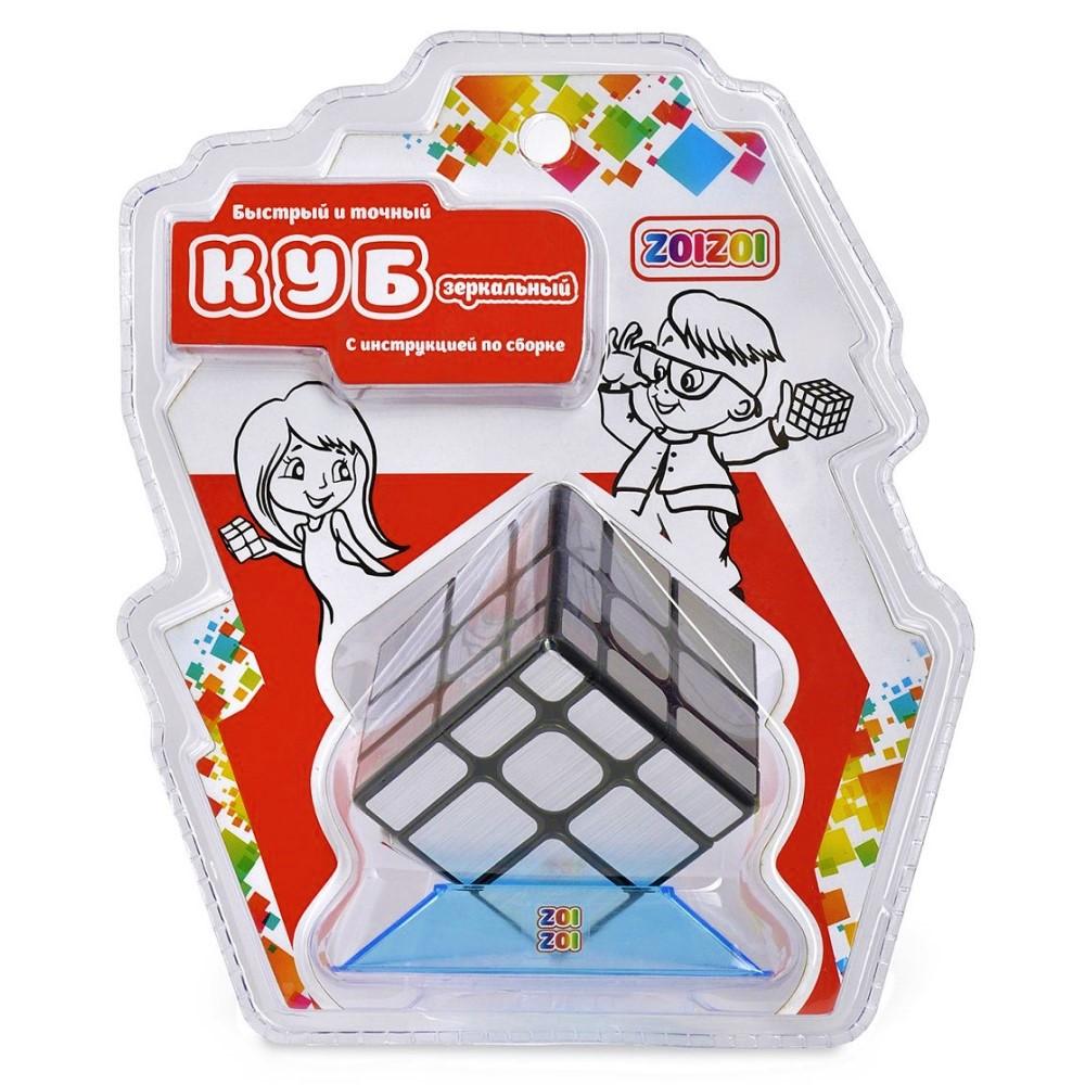 Игрушка головоломка ZOIZOI (Куб) 3*3 зеркальный, цвет серебро