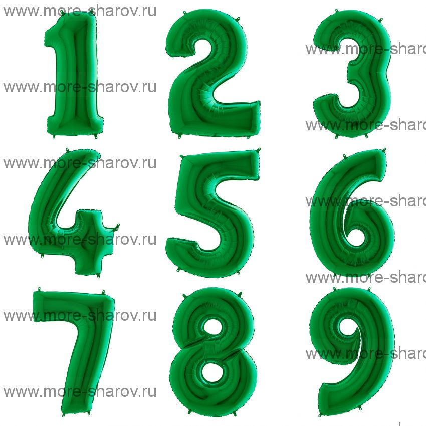 Шар-цифра 102 см Зеленая