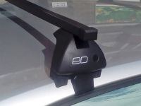 Багажник на крышу Nissan Note, Евродеталь, стальные прямоугольные дуги