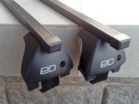 Багажник на крышу Kia Rio 3 (2011-17), Евродеталь, стальные прямоугольные дуги