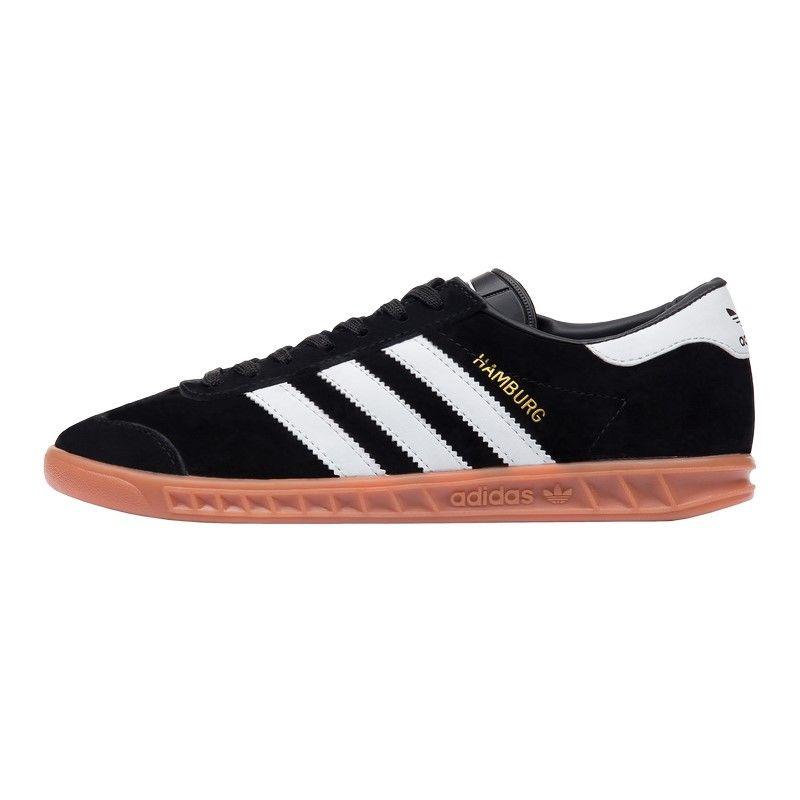 Кроссовки Adidas Hamburg чёрно-белые