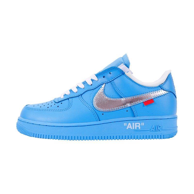 Кроссовки Nike Air Force 1 '07 Virgil x MoMa голубые