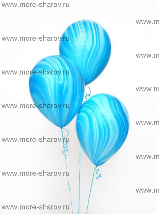 "Шар 11"" (25см) Агат Blue"
