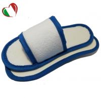Тапочки махровые с открытым мысом белые, в индивидуальной упаковке (1/150)