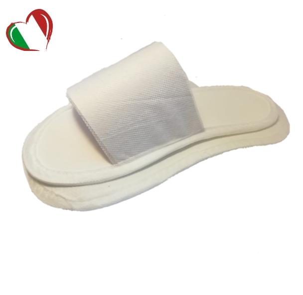 """Тапочки с открытым мысом белые, в индивидуальной упаковке """"Боббер Classic"""" (1/300)"""