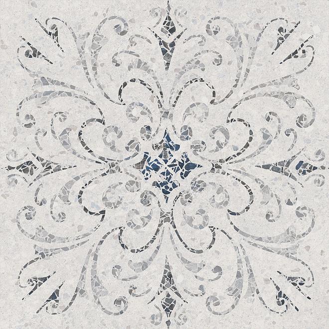 SG632500R | Терраццо серый светлый декорированный обрезной
