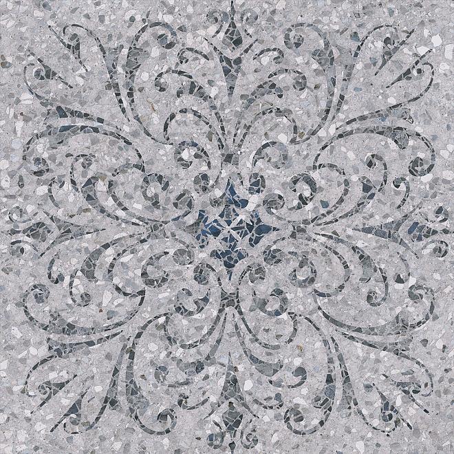 SG632700R | Терраццо серый декорированный обрезной
