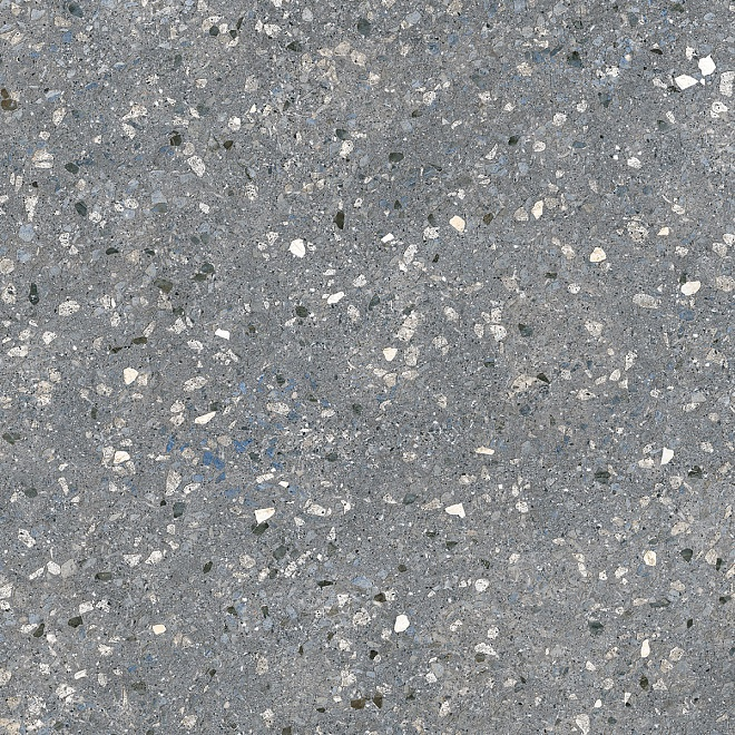 SG632800R | Терраццо серый тёмный обрезной