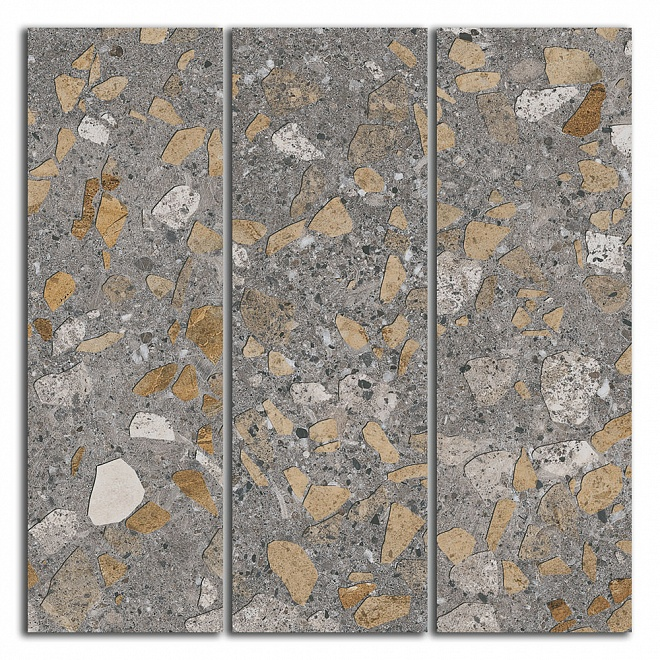 SG184/001 | Декор Терраццо коричневый мозаичный