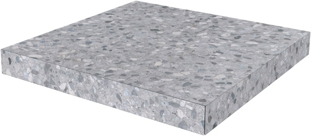 SG632600R/GCA | Ступень угловая клееная Терраццо серый
