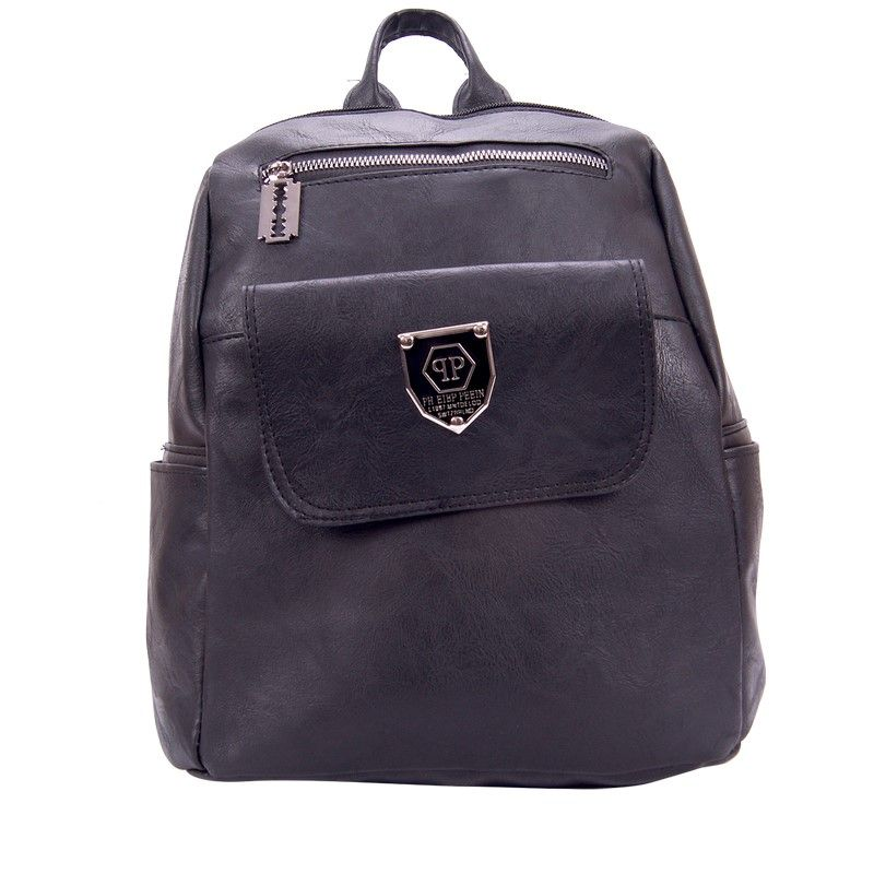 Рюкзак женский т/серый