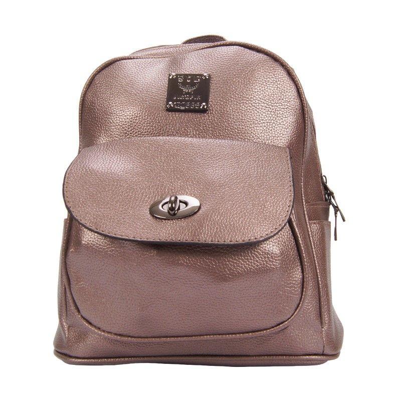 Рюкзак женский металлик