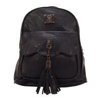 Рюкзак женский с кисточкой черный