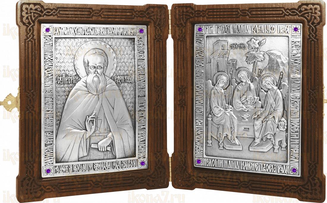 Складень - прп. Сергий Радонежский и Святая Троица