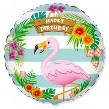 """Фламинго С Днем Рождения ,18""""/ 46 см"""