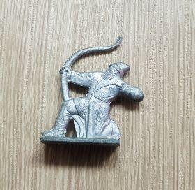 Оловянный солдатик СССР. Лучник.Ледовое побоище. Не частый. Состояние