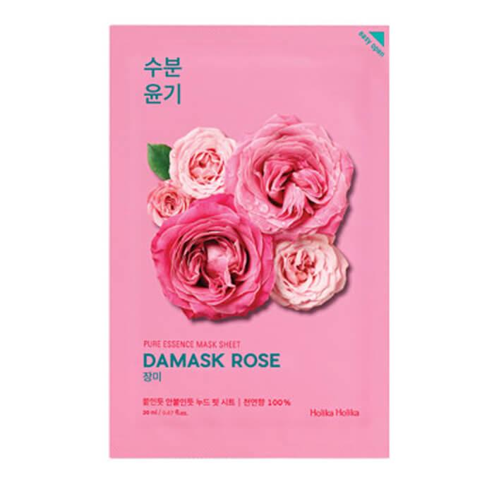 Увлажняющая тканевая маска для лица с дамасской розой Holika Holika Pure Essence Mask Sheet - Damask Rose