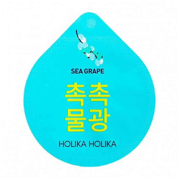 Увлажняющая ночная маска для лица с экстрактом морского винограда Holika Holika Super Food Capsule Pack Moisture