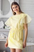 легкое платье с крылышками из органзы